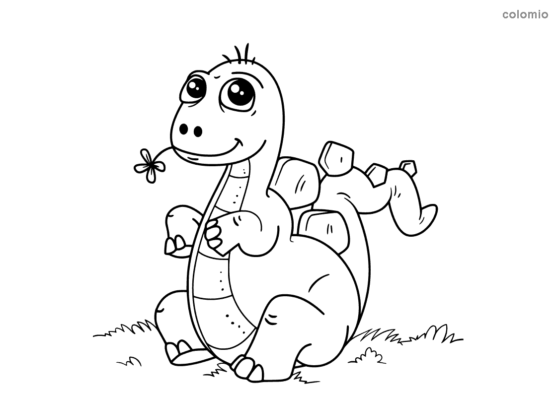Dino coloring page