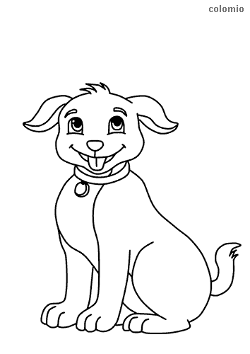 Coloring pages of dogs to print – Rafdavidstowmoor.org | 500x354