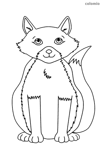 Easy fox coloring sheet