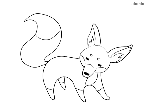 Simple fox coloring page