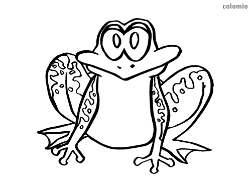 Easy frog coloring page