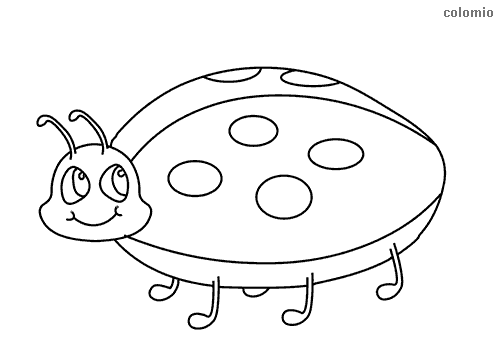 Funny ladybug coloring page