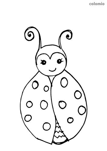 Dibujo de Mariquita tierna para colorear