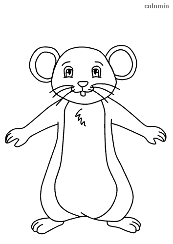 Easy mouse coloring page