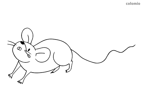 Simple mouse coloring sheet