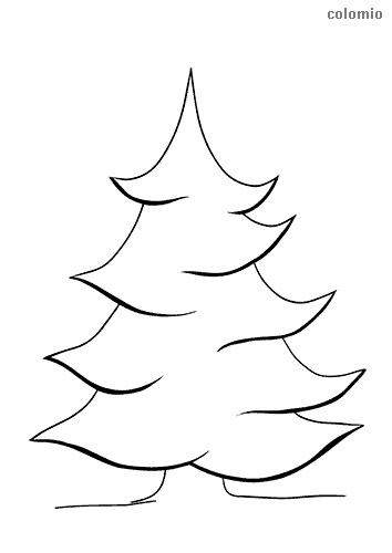 Big pinetree coloring page