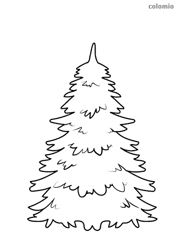 Christmas tree without ornaments coloring sheet