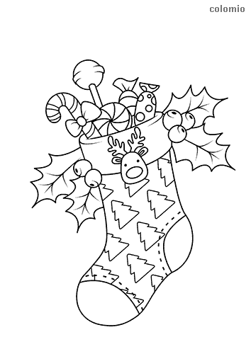 Nicholas sock coloring sheet