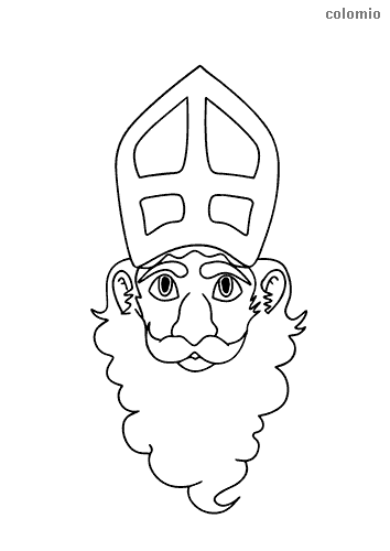 St-Nicholas head coloring page