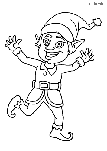 Smiling kobold coloring sheet