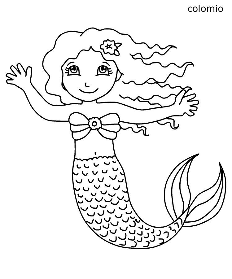 Little mermaid coloring sheet