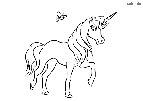 Unicorn Coloring Page | Unicorn coloring pages, Rainbow unicorn ... | 354x500
