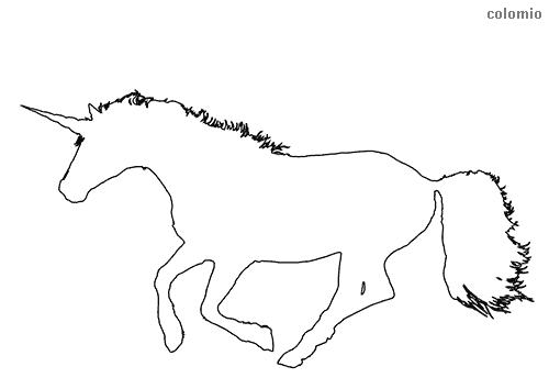 Dibujo de Silueta de unicornio para colorear