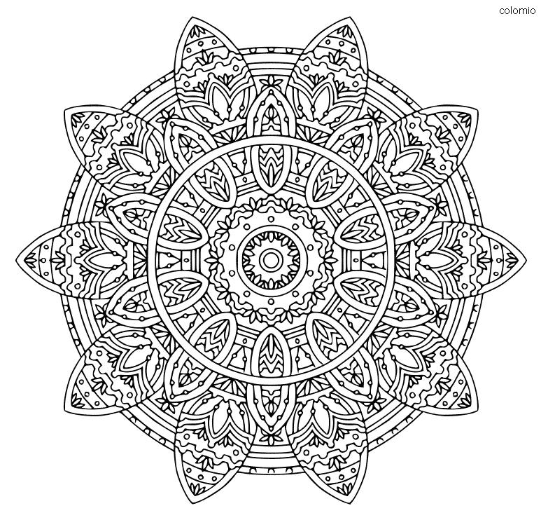 imagen de mandala compleja