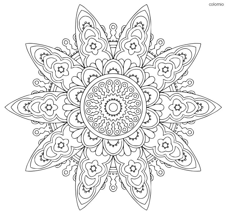 Easy Mandala coloring page