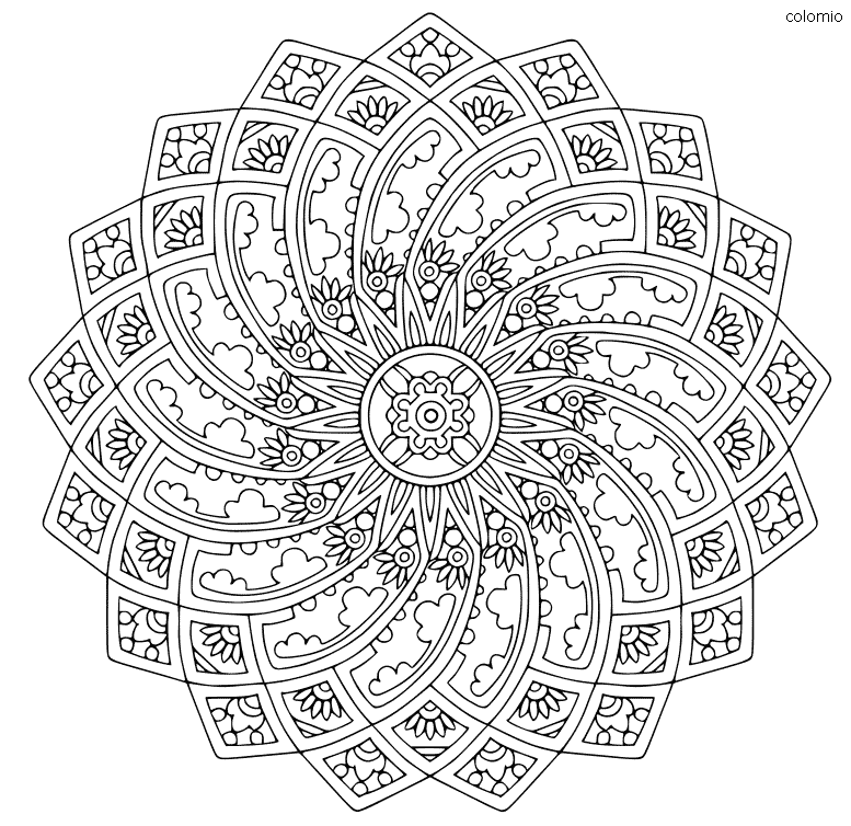 Gothic Mandala coloring sheet