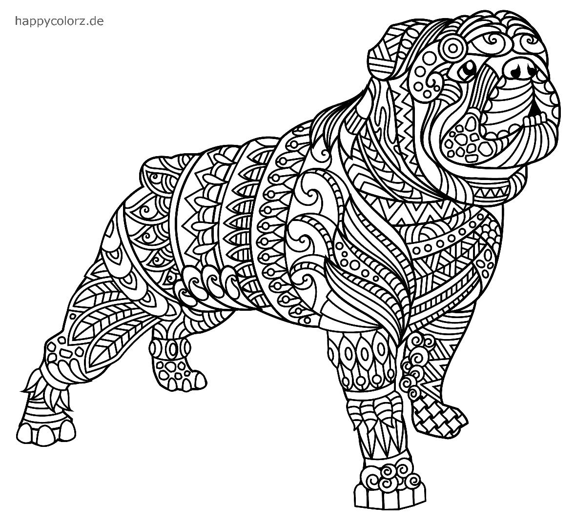 mandala perro para imprimir