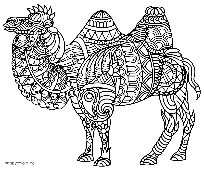 Mandala Camello para colorear