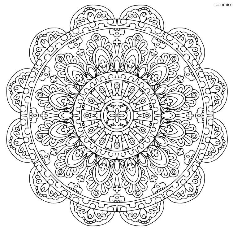 Mandala estilo medieval para imprimir