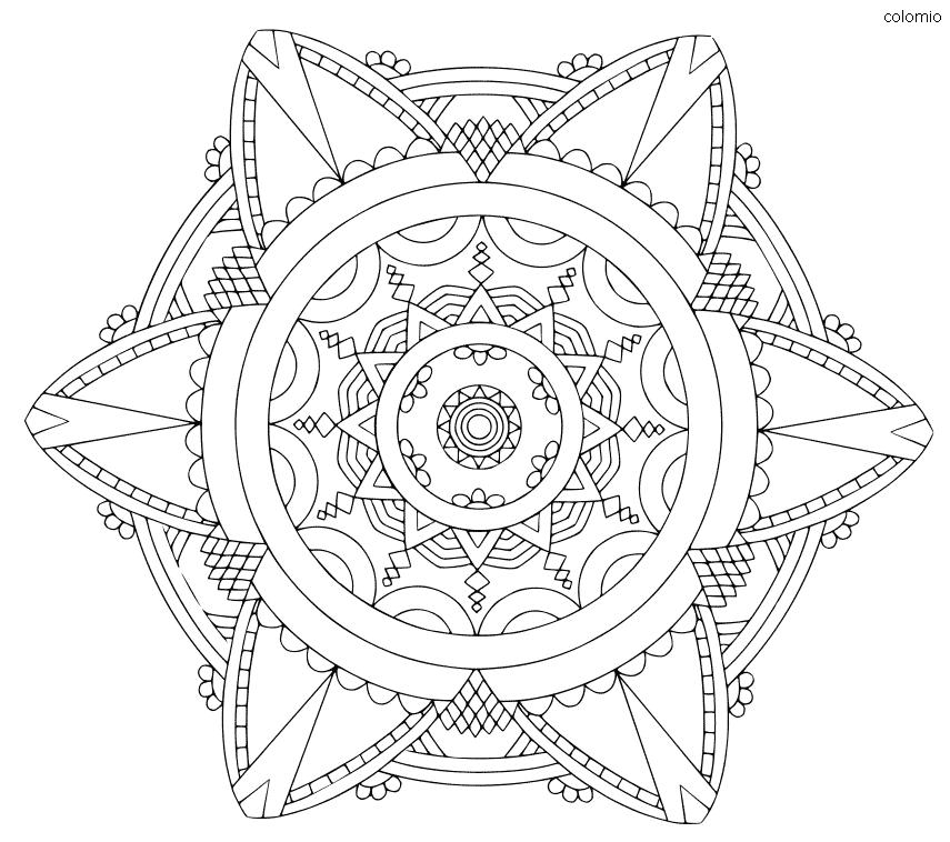 Mandala Simple coloring page