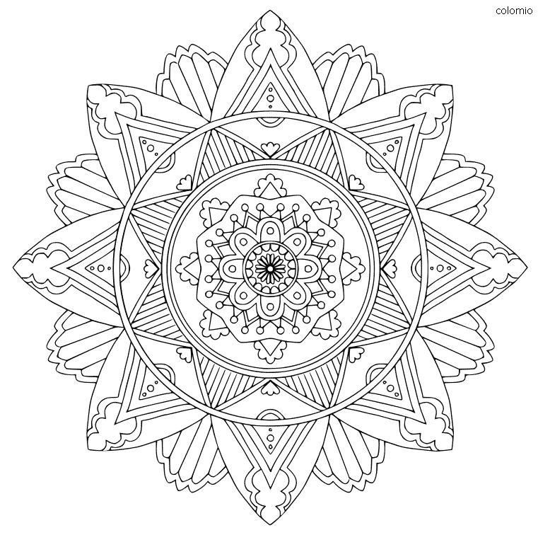 Mandala simple para colorear