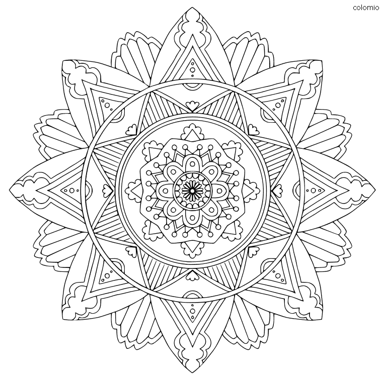 Simple Mandala Coloring Page