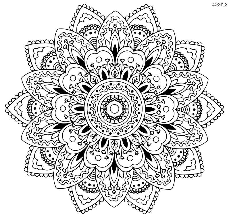 Mandala girasol para imprimir