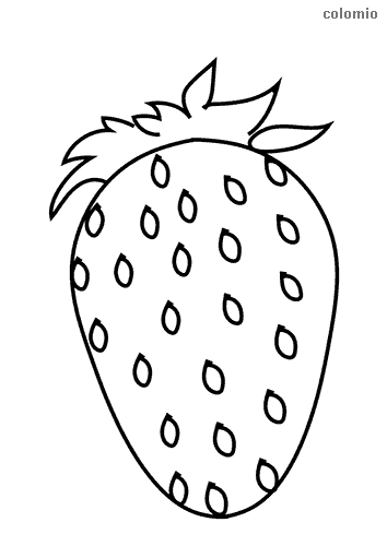 Simple strawberry coloring page