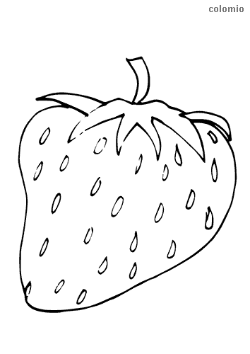 Strawberry with stalk coloring page