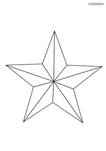 Five-pointed star coloring page