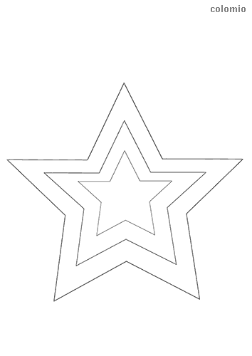 Pair of stars coloring page