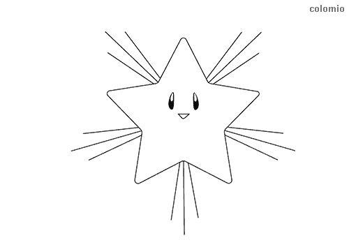Shining star coloring page