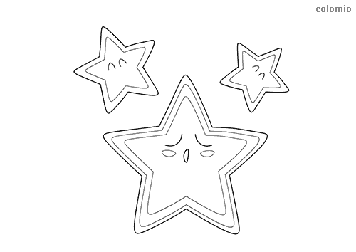 Sleeping stars coloring page