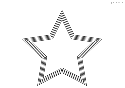 Star with frame coloring pages