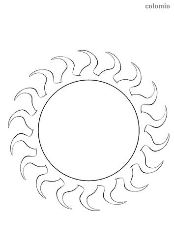 Dibujo de Sol para colorear