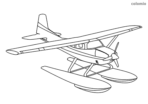 Seaplane coloring page