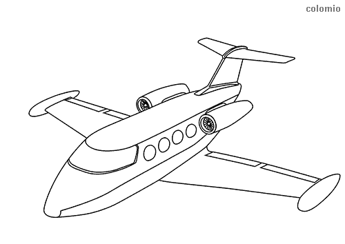 Simple airliner coloring page