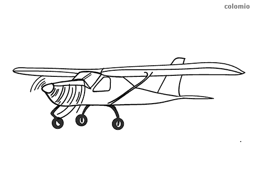 Simple cessna coloring page