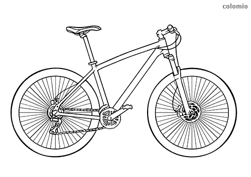 Mountain bike coloring sheet