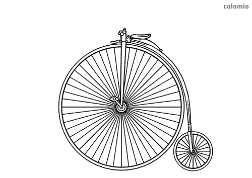Penny-farthing coloring sheet