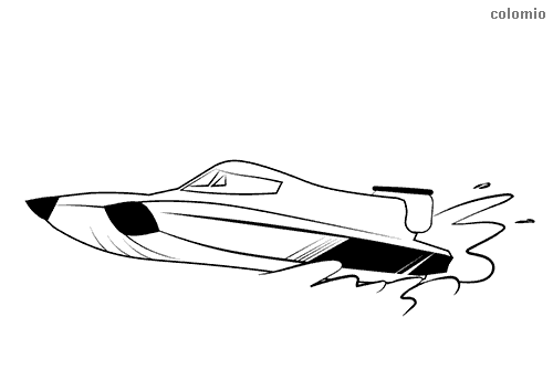 Powerboat coloring page