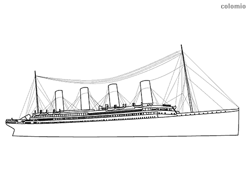 Titanic coloring page