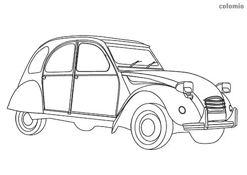 Dibujo de 2CV para colorear