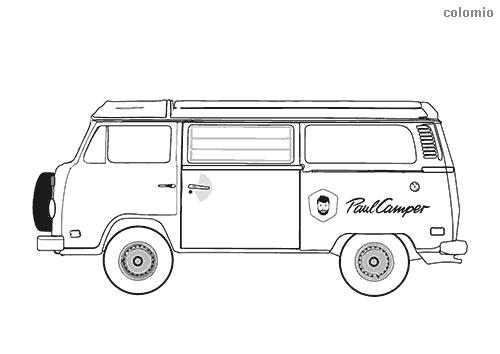 Classic camper van coloring