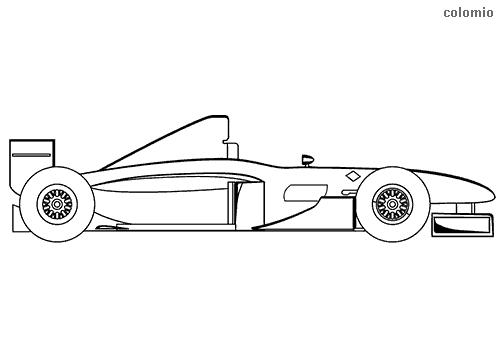 Formula car monoposto coloring sheet
