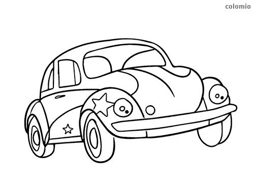 Dibujo de Beetle con estrellas para colorear