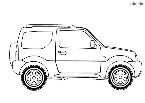 Off-road vehicle coloring page