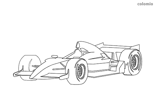 Open-wheel car coloring page