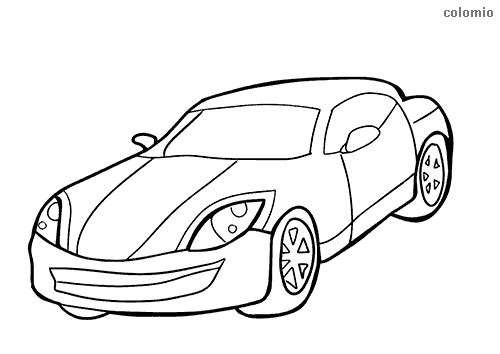 Simple sports car coloring page