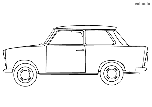 Trabant oldtimer coloring page